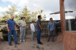 group inspecting building