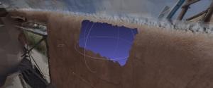 3D mesh viewed in Meshlab